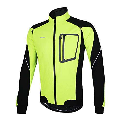 4. ARSUXEO Winter Thermal Fleece Cycling Jacket