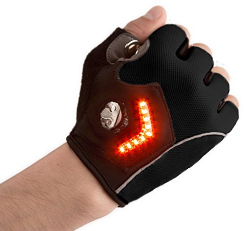 5. Zackees LED Turn Signal Gloves