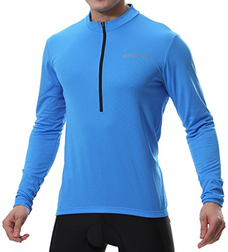 Spotti Men's Long Sleeve Cycling Jersey,...