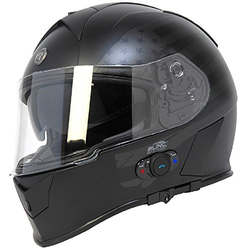 5. Torc T14B Bluetooth Integrated Mako Full Face Helmet