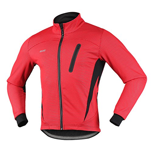 2. ARSUXEO 16H Men's Winter Thermal Fleece Cycling Jacket