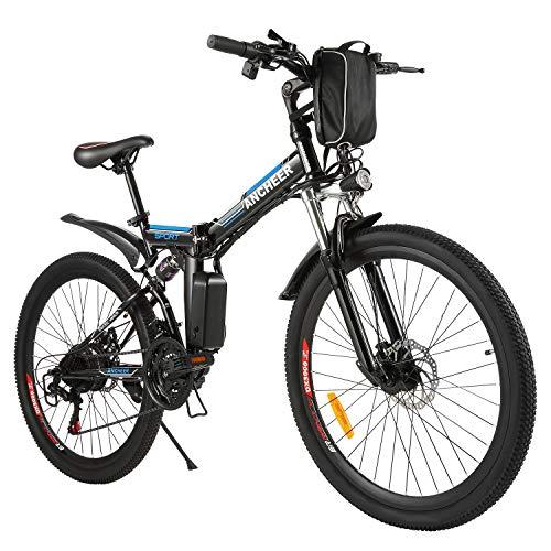 ANCHEER Folding Electric Mountain Bike,...