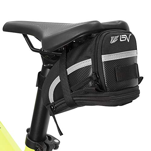 1. BV Bicycle Strap-On Bike Saddle Bag