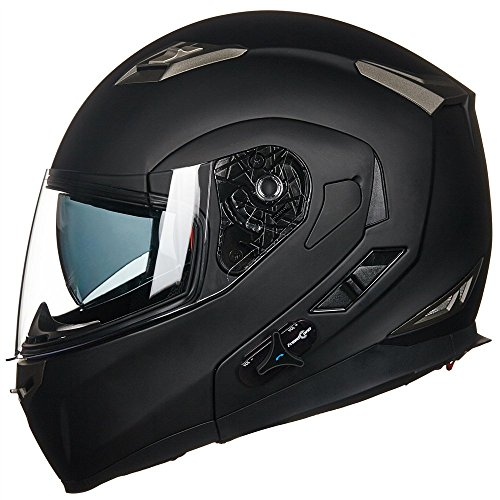4. Matte Black Modular Flip-up Helmet