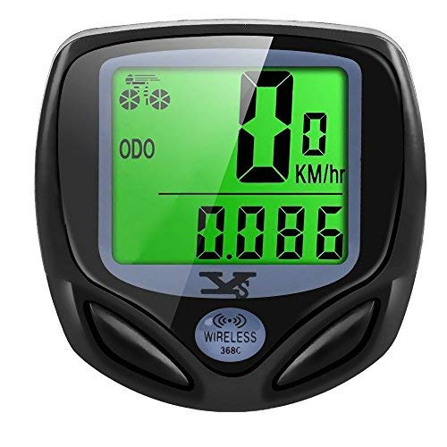 10. Bicycle Speedometer and Odometer Wireless Waterproof with Digital LCD Display by SY