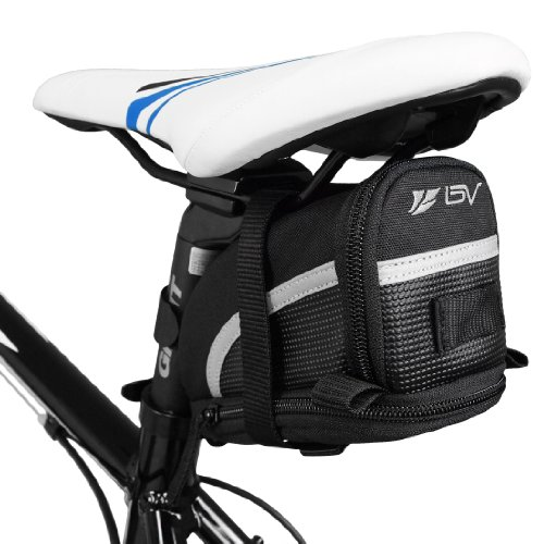 1. BV Bicycle Strap-On Bike Saddle Bag