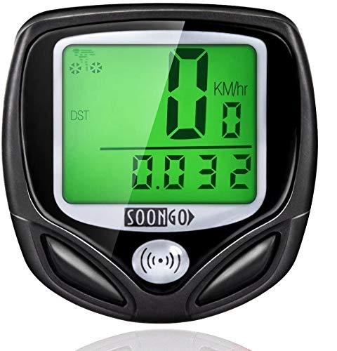 9. Wireless and Water-proof Bike Computer Speedometer by SOONGO