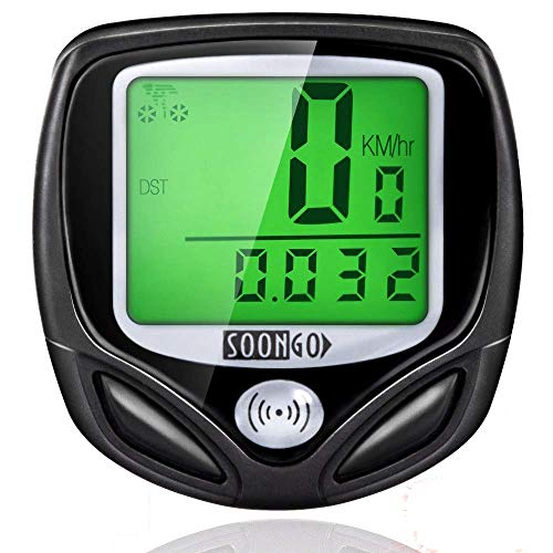 9. Wireless and Water-proof Bike Computer Speedometer by SOONGO