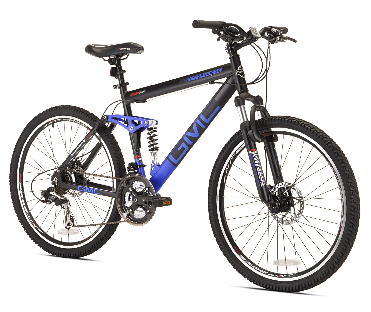 Gmc topkick dual suspension mountain bike review gmc bike for Suspension multiple cuisine